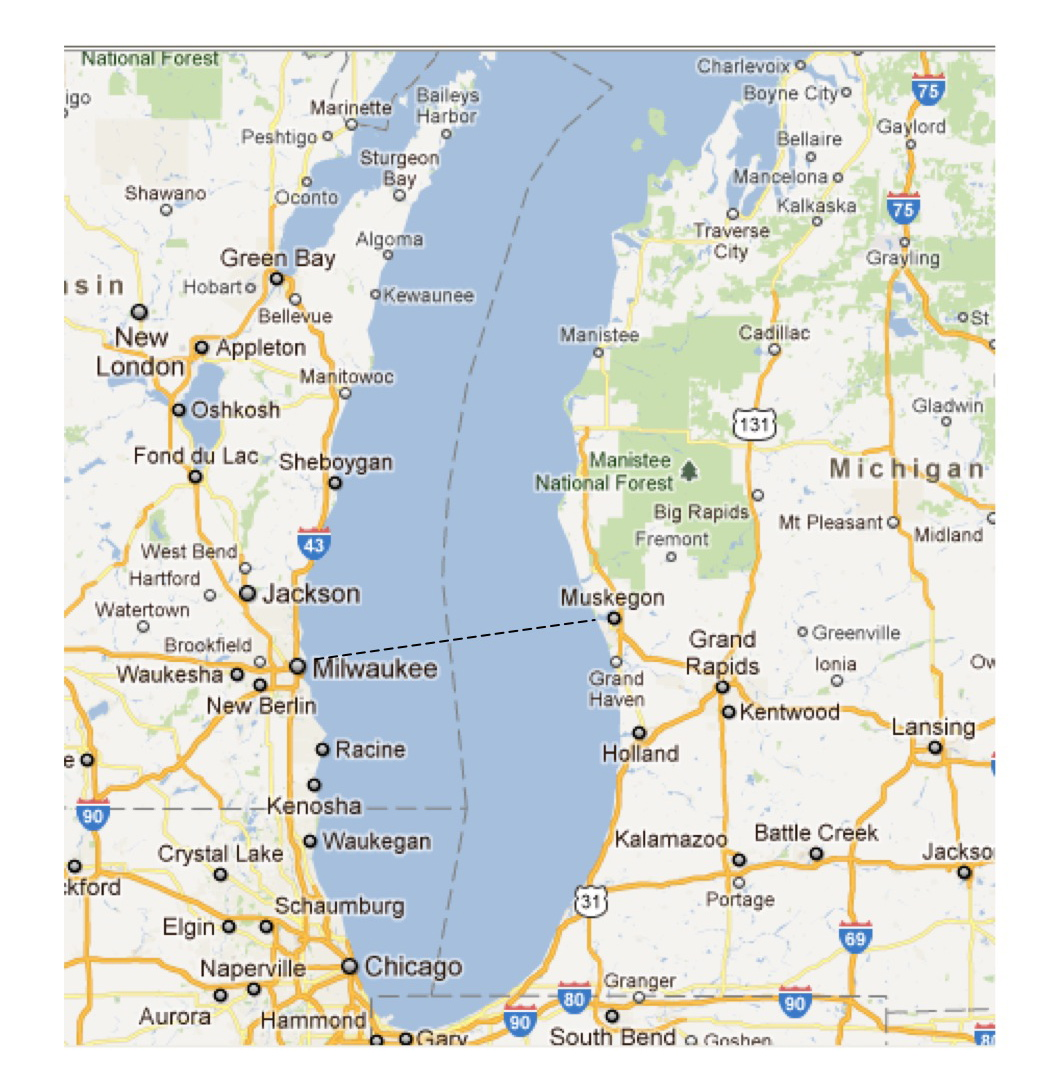 Map Lake Michigan Michigan Map - Lake michigan map
