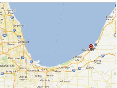 "Map of Four Winds Casino Resort, New Buffalo, MI - Google Maps"""