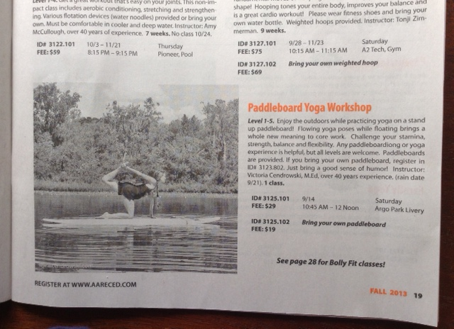 yoga on paddleboard class-rec&ed