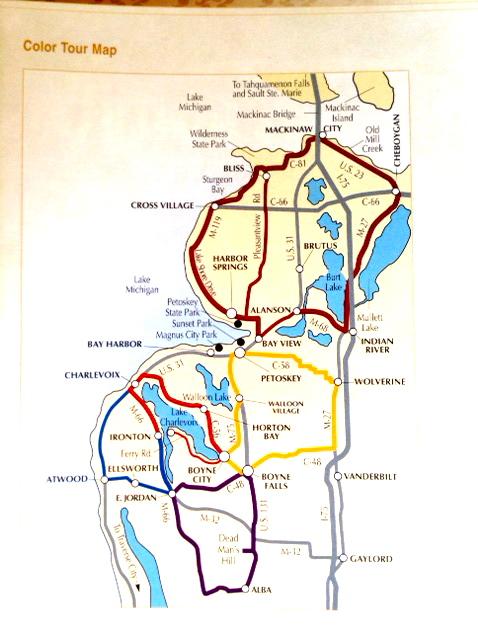 Petosky area map