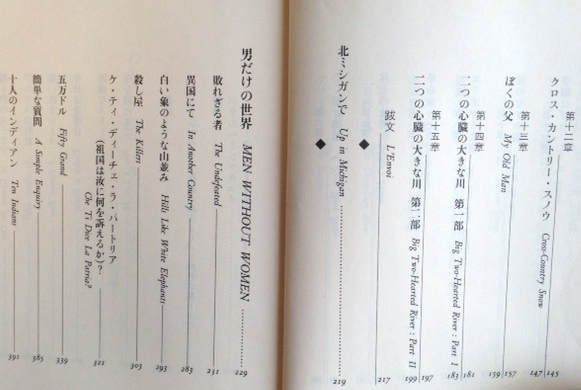 Contents Page (in Japanese)