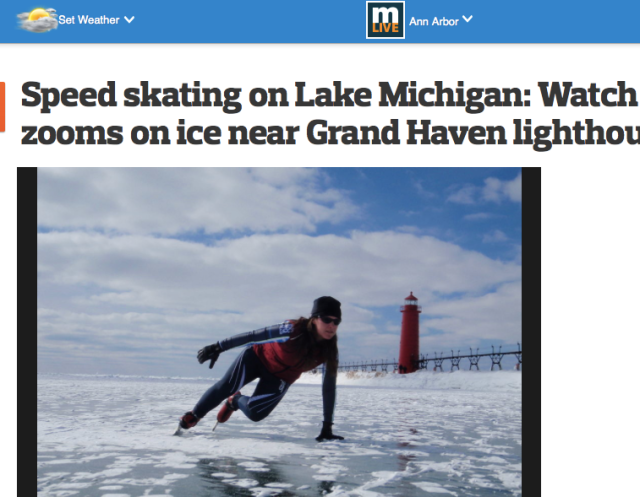 Speedskate on Lake MI-Mar15