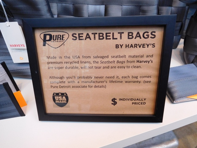 Seatbelt bag sign